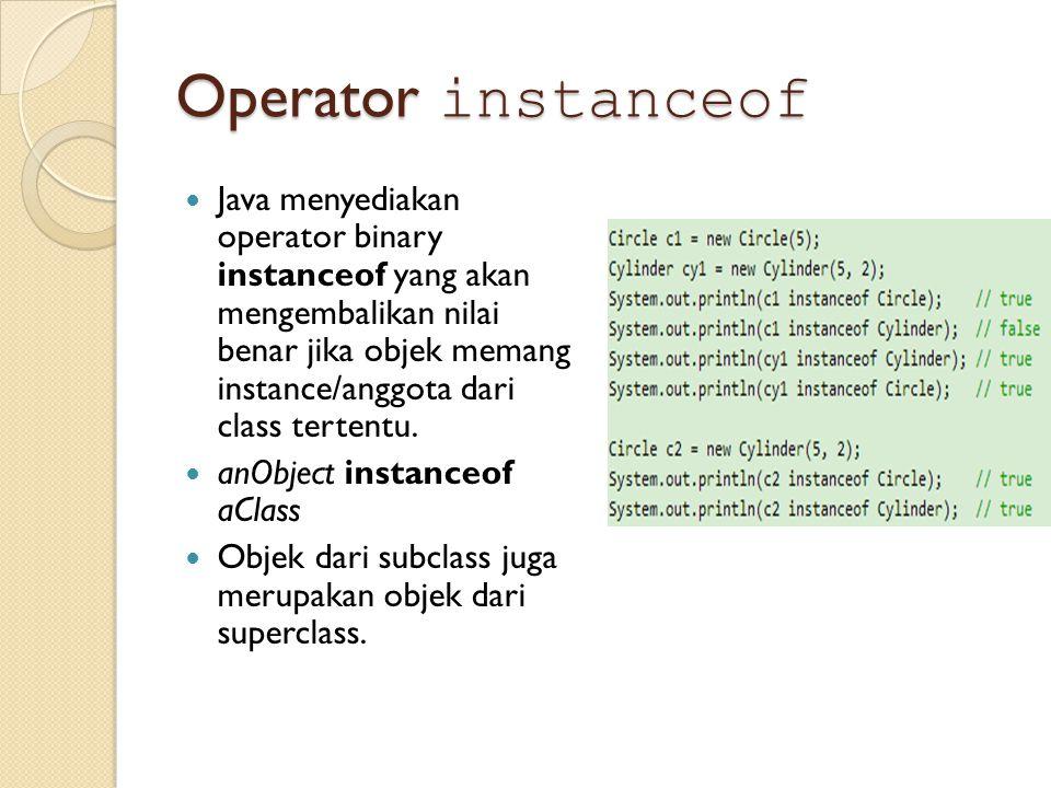 Operator instanceof