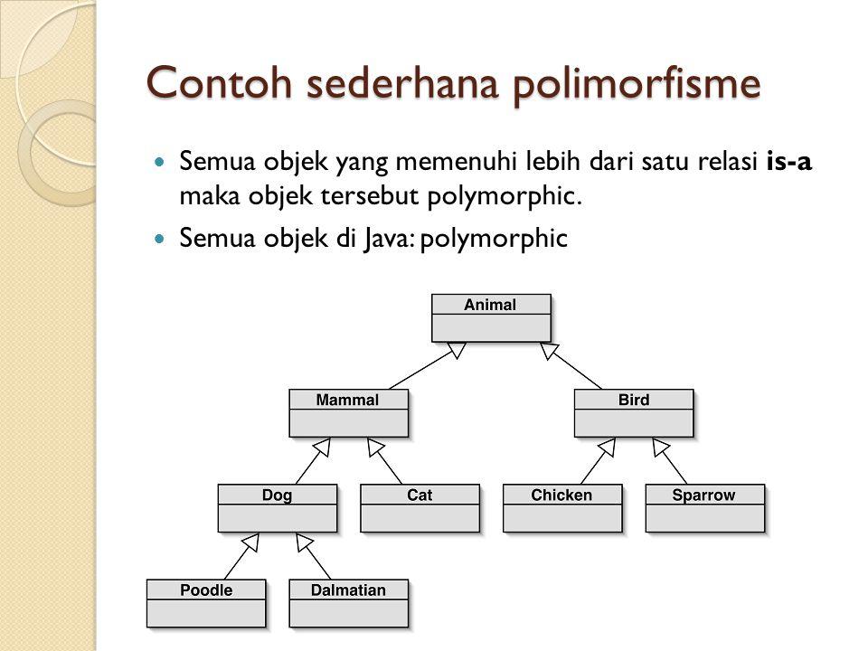 Contoh sederhana polimorfisme