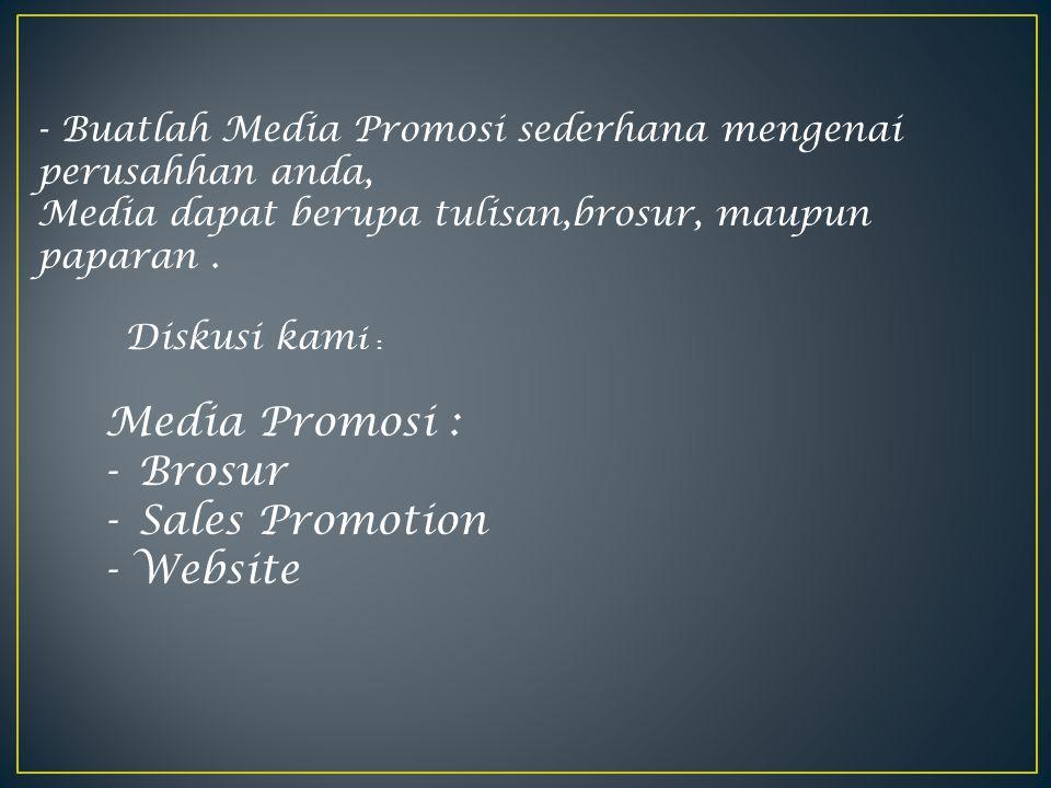 Media Promosi : Brosur Sales Promotion - Website