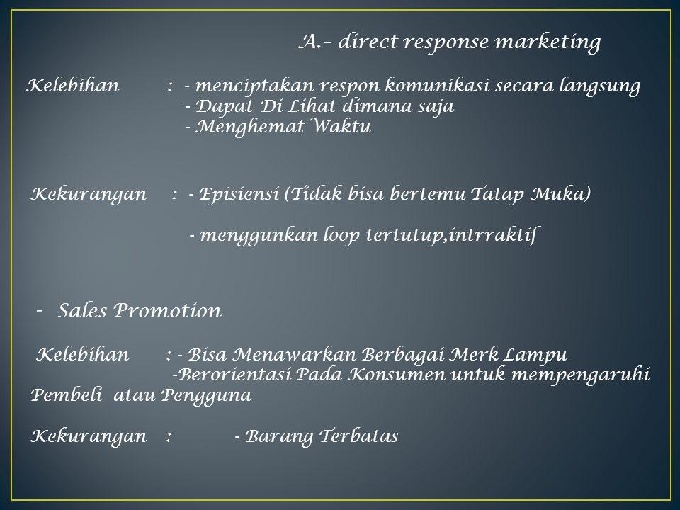 A.– direct response marketing