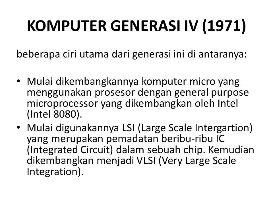 KOMPUTER GENERASI IV (1971)