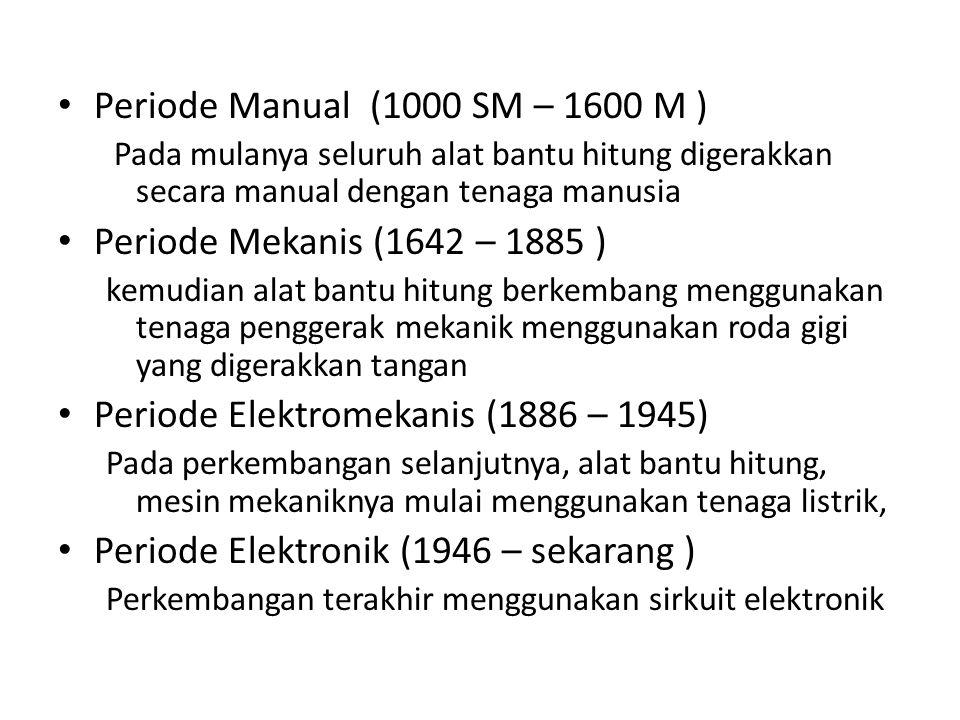 Periode Elektromekanis (1886 – 1945)