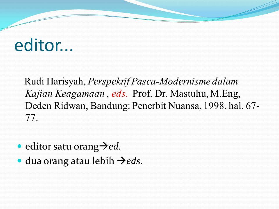 editor...