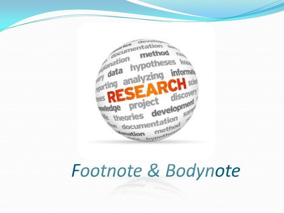 Footnote & Bodynote