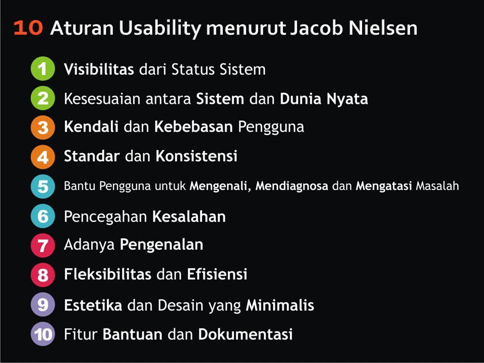 10 Aturan Usability menurut Jacob Nielsen