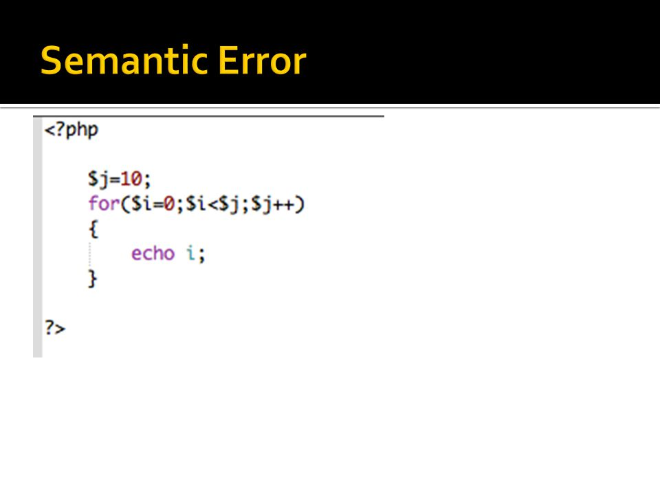 Semantic Error