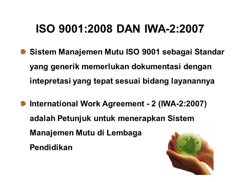 ISO 9001:2008 DAN IWA-2:2007