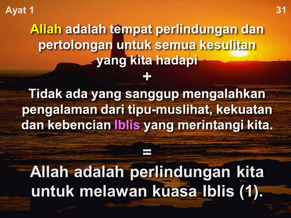 = Allah adalah perlindungan kita untuk melawan kuasa Iblis (1).
