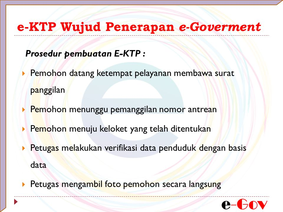 e-KTP Wujud Penerapan e-Goverment