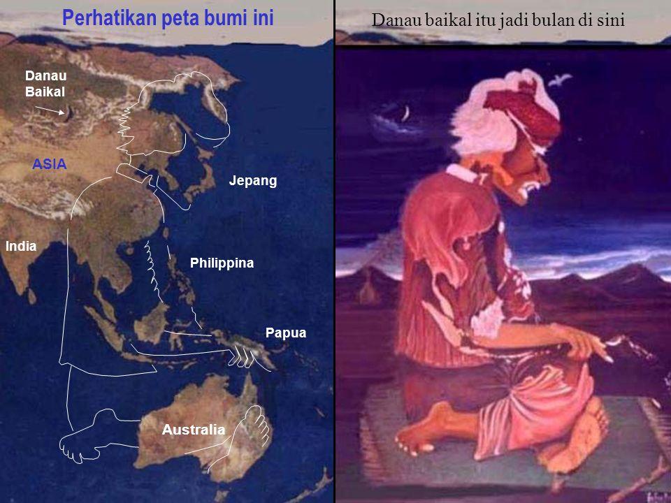Perhatikan peta bumi ini