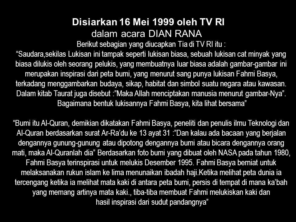 Disiarkan 16 Mei 1999 oleh TV RI