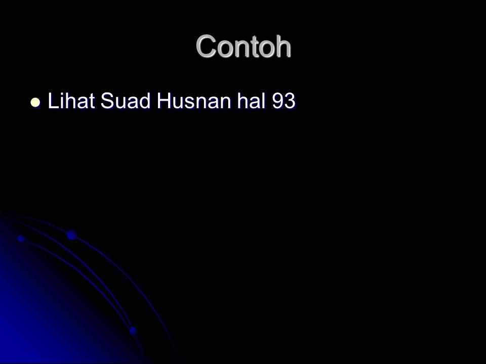 Contoh Lihat Suad Husnan hal 93