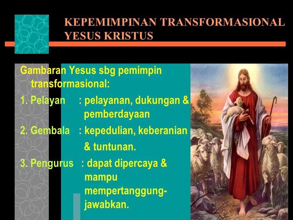 KEPEMIMPINAN TRANSFORMASIONAL YESUS KRISTUS