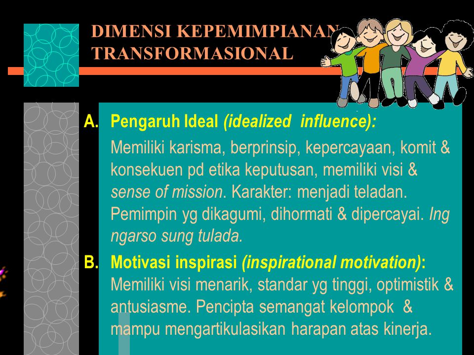 DIMENSI KEPEMIMPIANAN TRANSFORMASIONAL