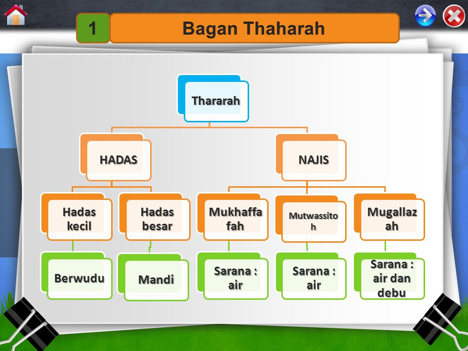 1 Bagan Thaharah Thararah HADAS Hadas kecil Berwudu Hadas besar Mandi