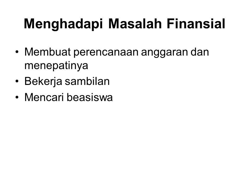 Menghadapi Masalah Finansial