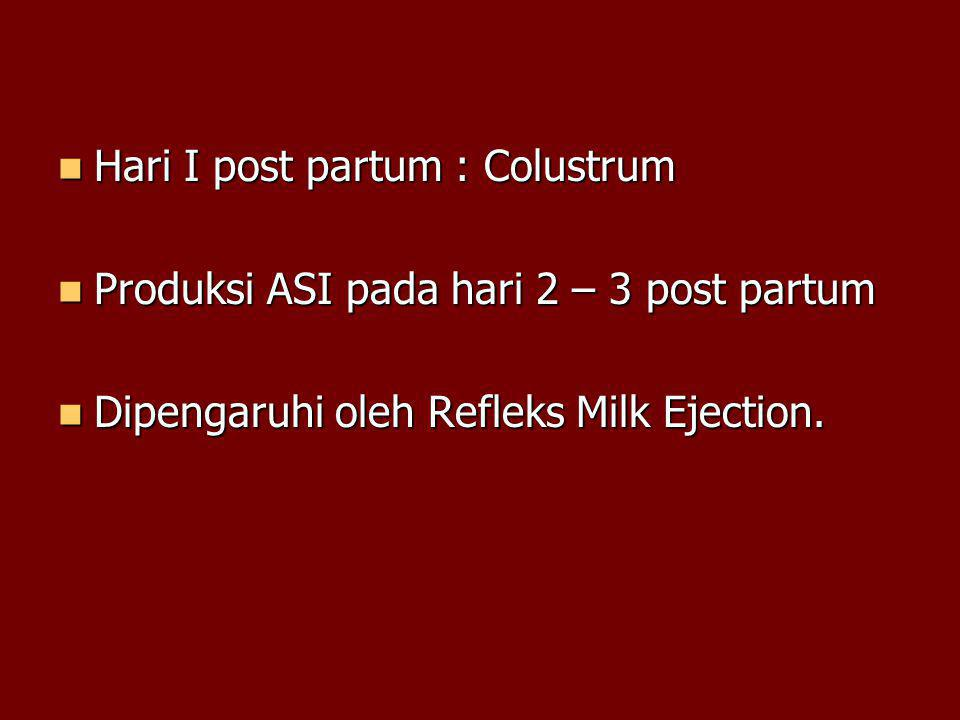Hari I post partum : Colustrum