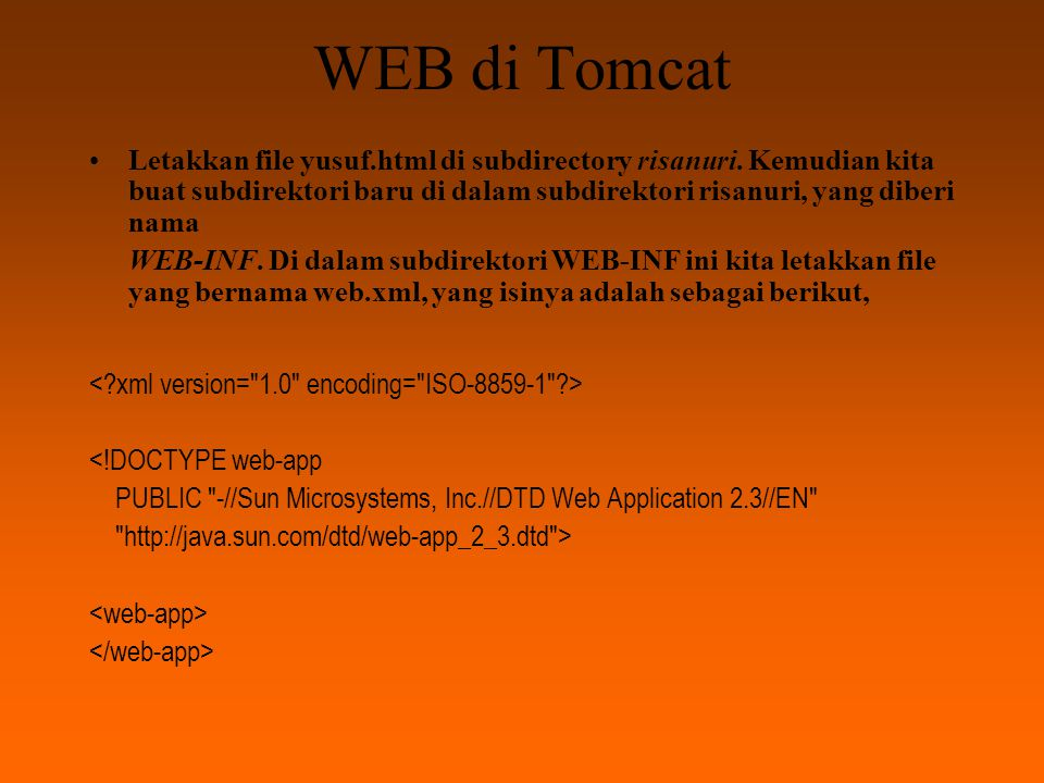 WEB di Tomcat