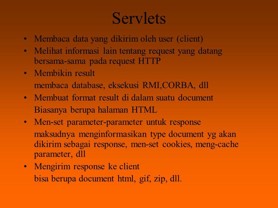 Servlets Membaca data yang dikirim oleh user (client)