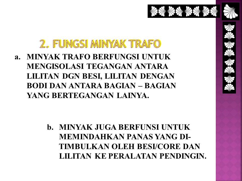 2. FUNGSI MINYAK TRAFO