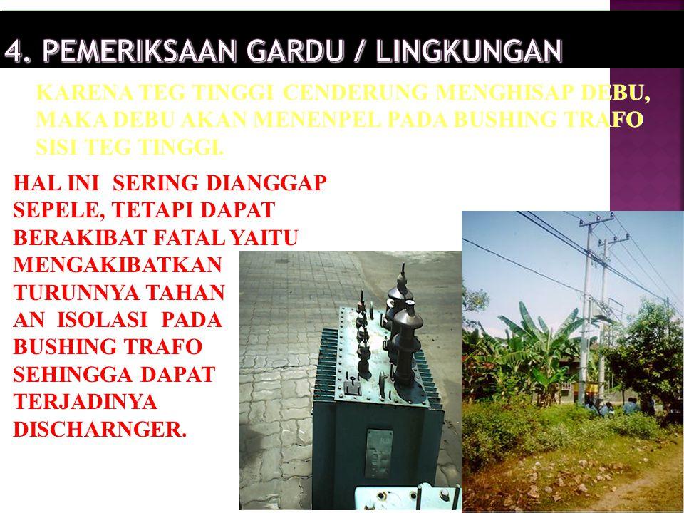 4. PEMERIKSAAN GARDU / LINGKUNGAN