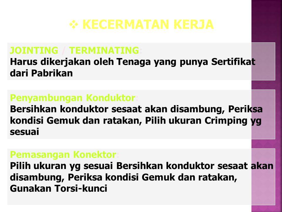 KECERMATAN KERJA JOINTING / TERMINATING: