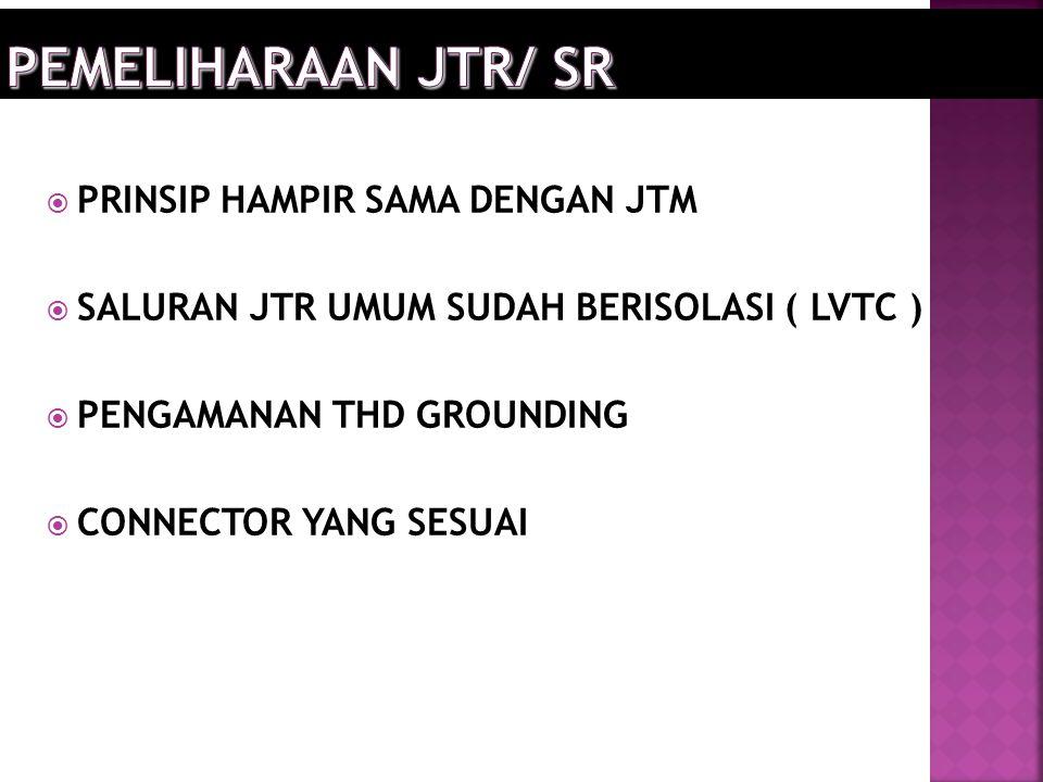 PEMELIHARAAN JTR/ SR PRINSIP HAMPIR SAMA DENGAN JTM