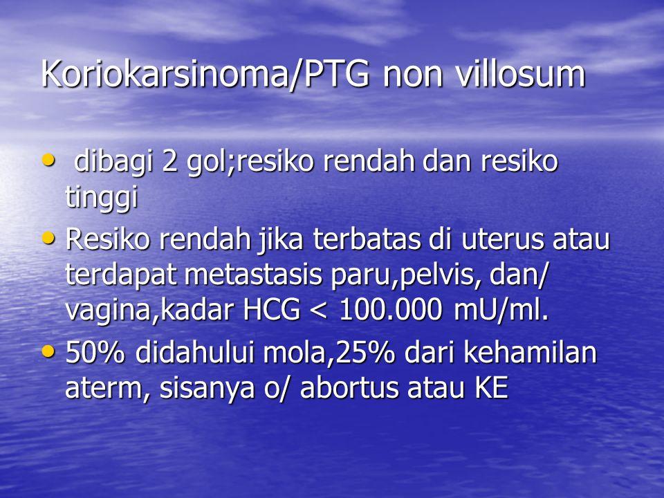 Koriokarsinoma/PTG non villosum