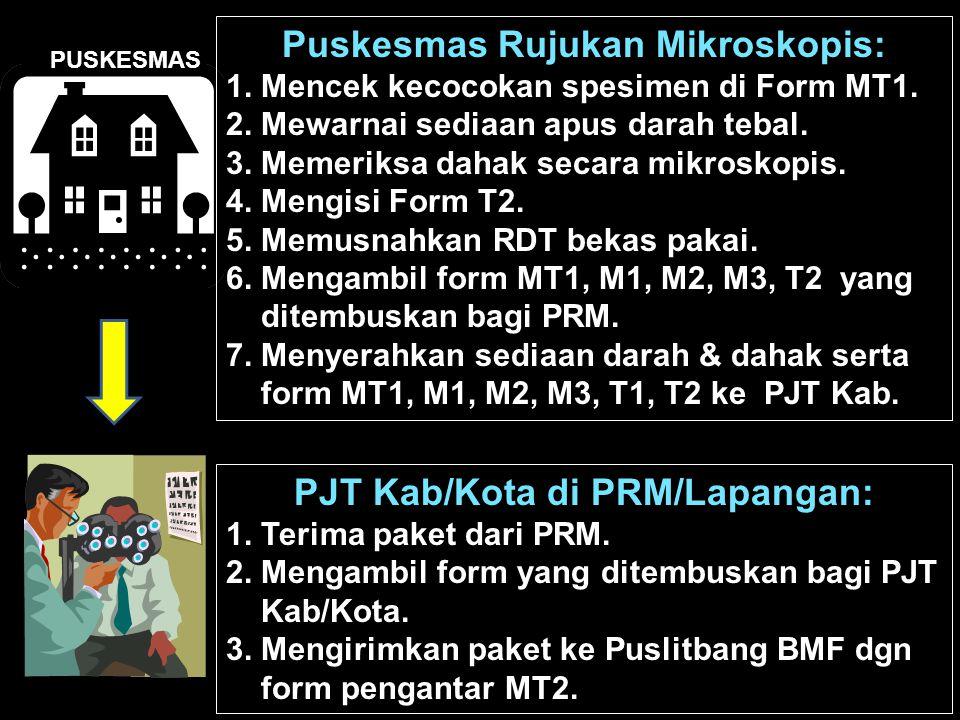 Puskesmas Rujukan Mikroskopis: PJT Kab/Kota di PRM/Lapangan: