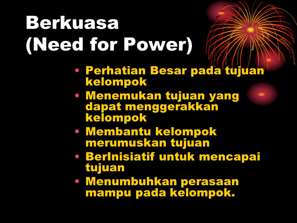 Berkuasa (Need for Power)