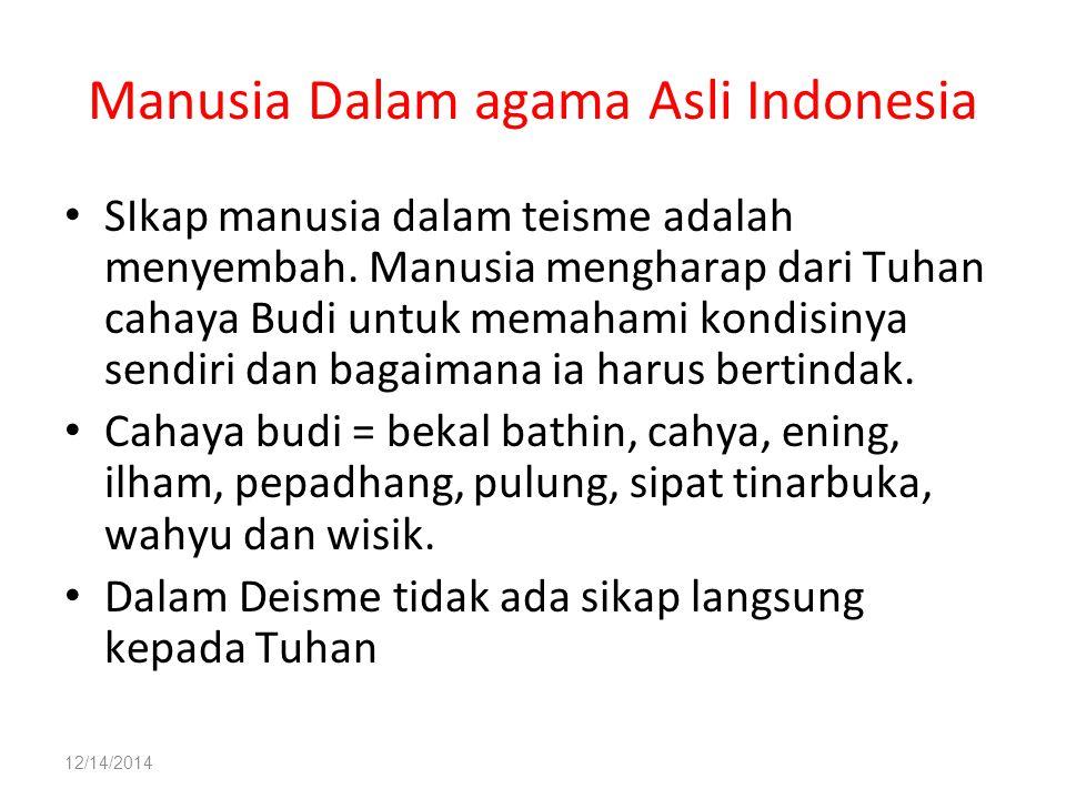 Manusia Dalam agama Asli Indonesia