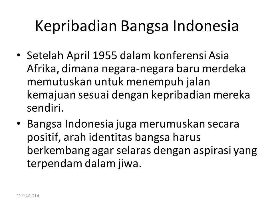 Kepribadian Bangsa Indonesia