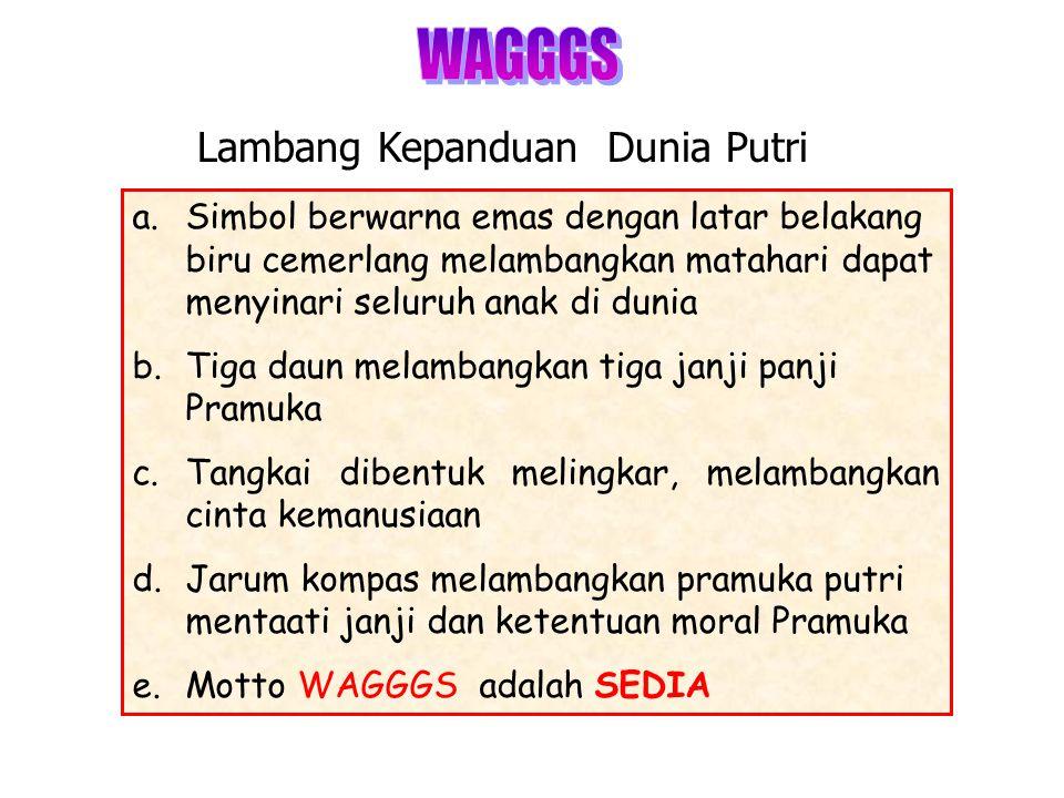 WAGGGS Lambang Kepanduan Dunia Putri