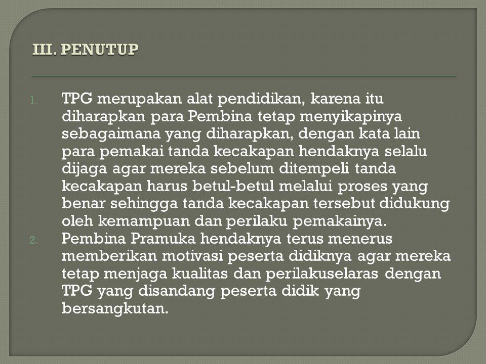 III. PENUTUP