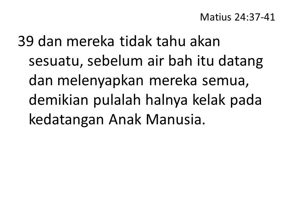 Matius 24:37-41
