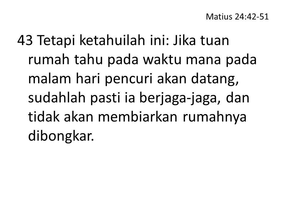 Matius 24:42-51