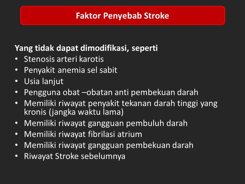 Faktor Penyebab Stroke