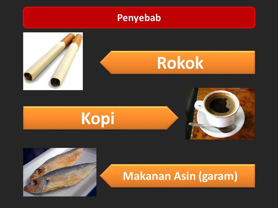 Penyebab Rokok Kopi Makanan Asin (garam)