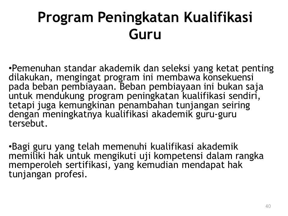 Program Peningkatan Kualifikasi Guru