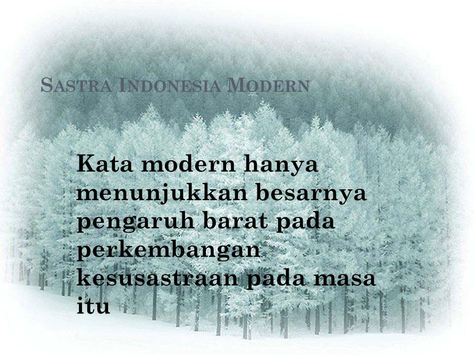 Sastra Indonesia Modern