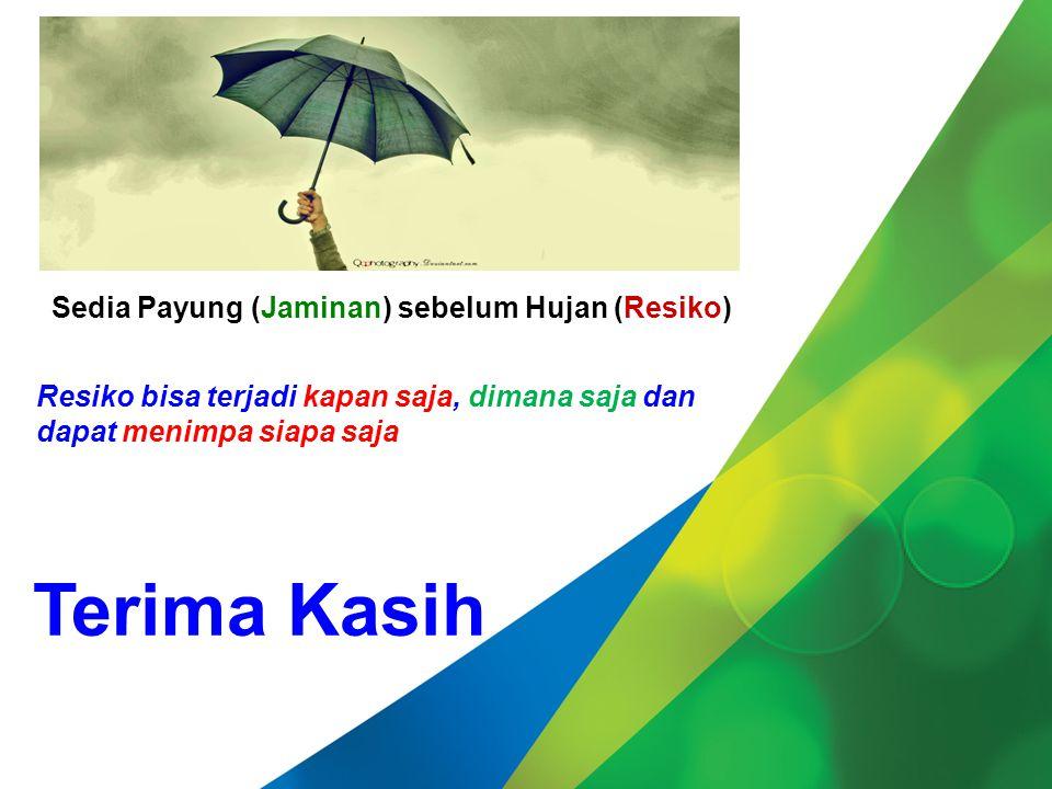 Terima Kasih Sedia Payung (Jaminan) sebelum Hujan (Resiko)