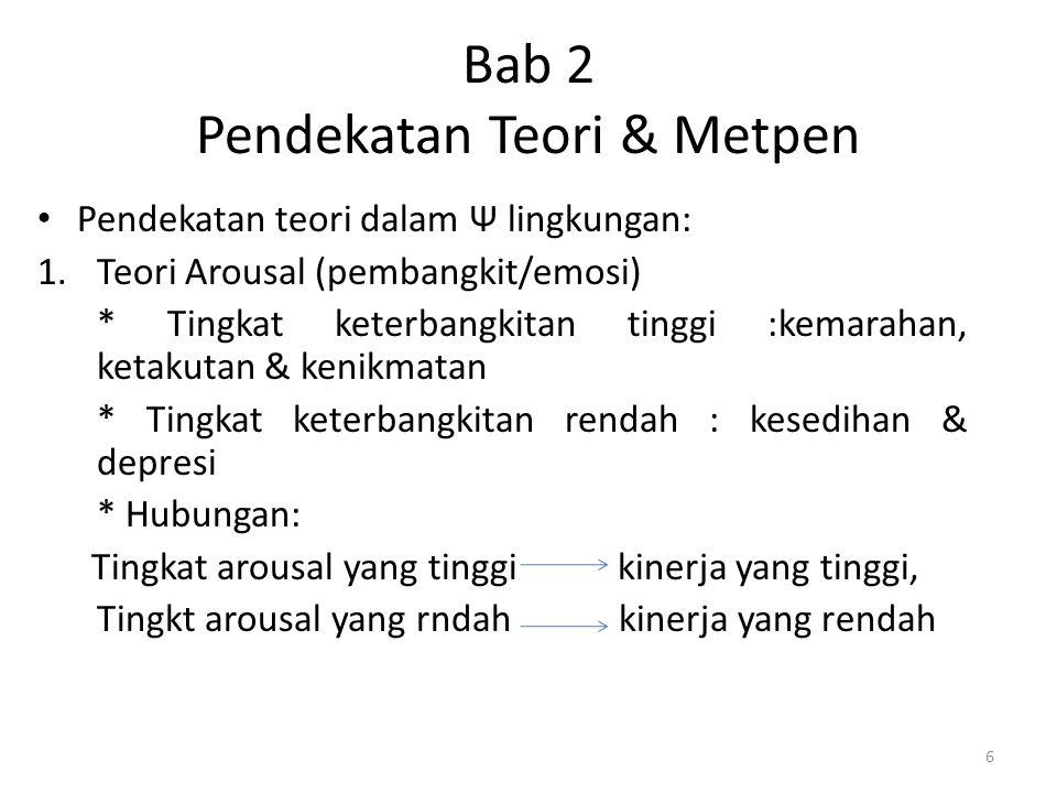 Bab 2 Pendekatan Teori & Metpen