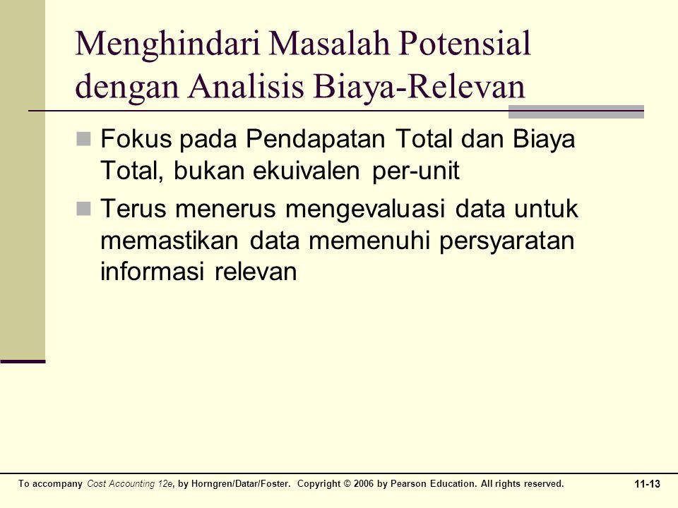 Menghindari Masalah Potensial dengan Analisis Biaya-Relevan