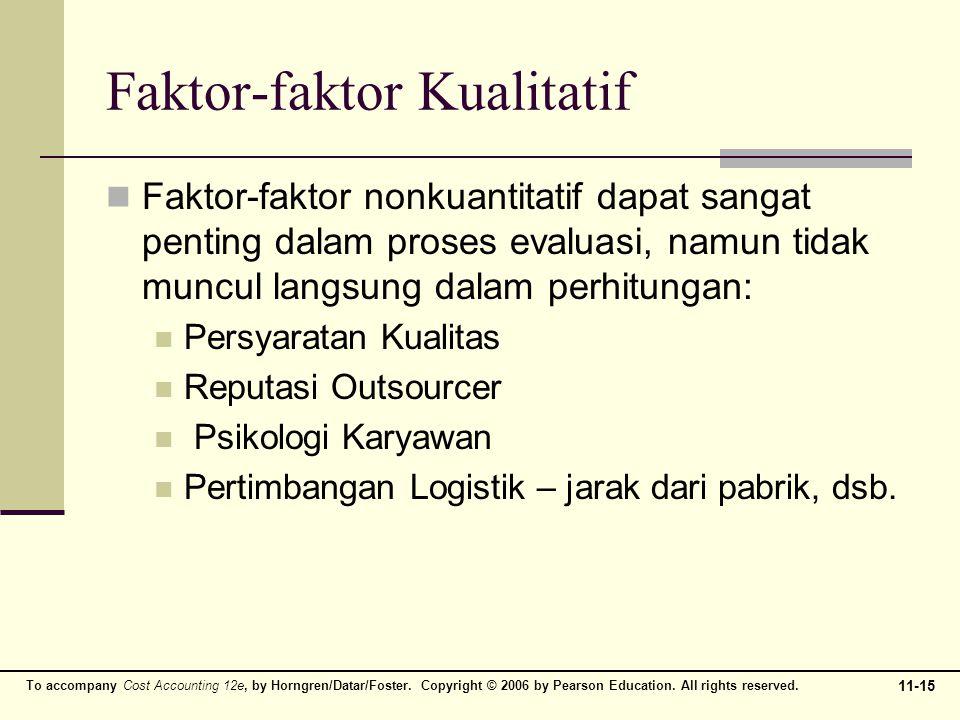 Faktor-faktor Kualitatif