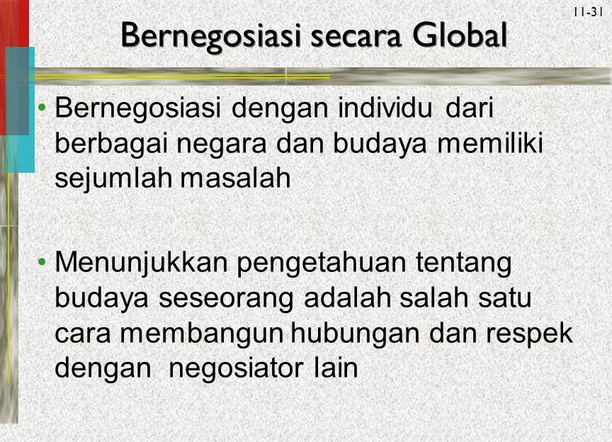 Bernegosiasi secara Global