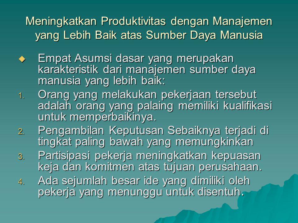 Meningkatkan Produktivitas dengan Manajemen yang Lebih Baik atas Sumber Daya Manusia