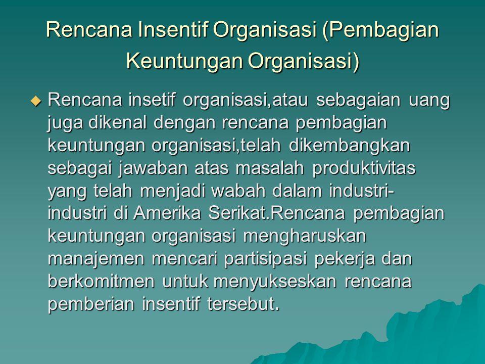 Rencana Insentif Organisasi (Pembagian Keuntungan Organisasi)