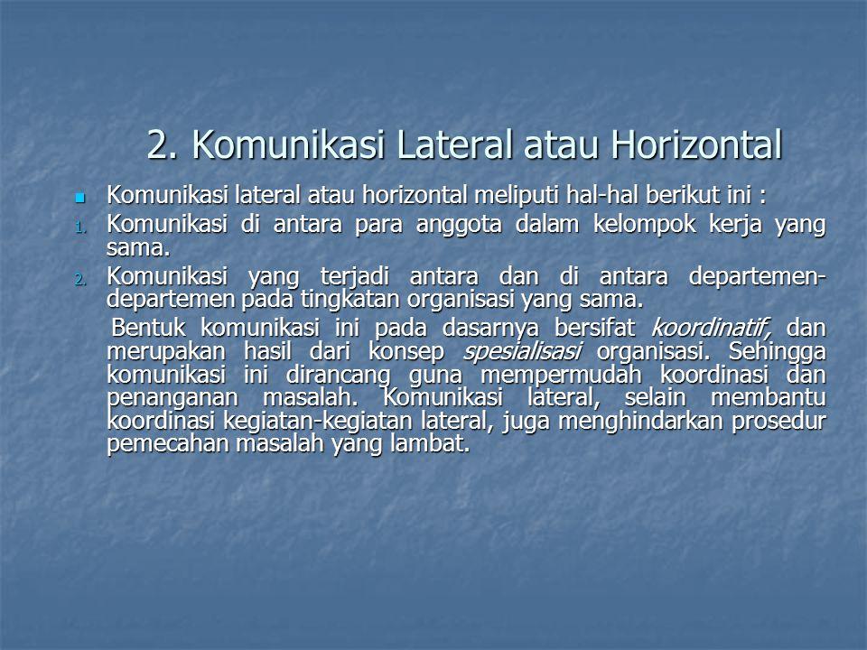 2. Komunikasi Lateral atau Horizontal