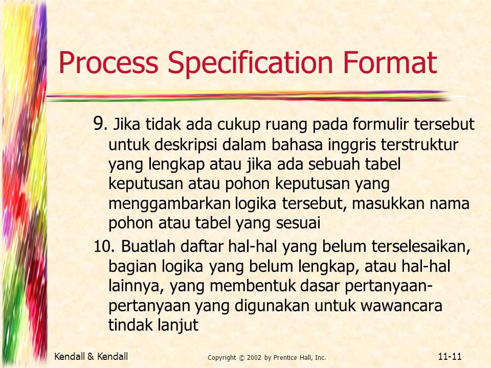 Process Specification Format