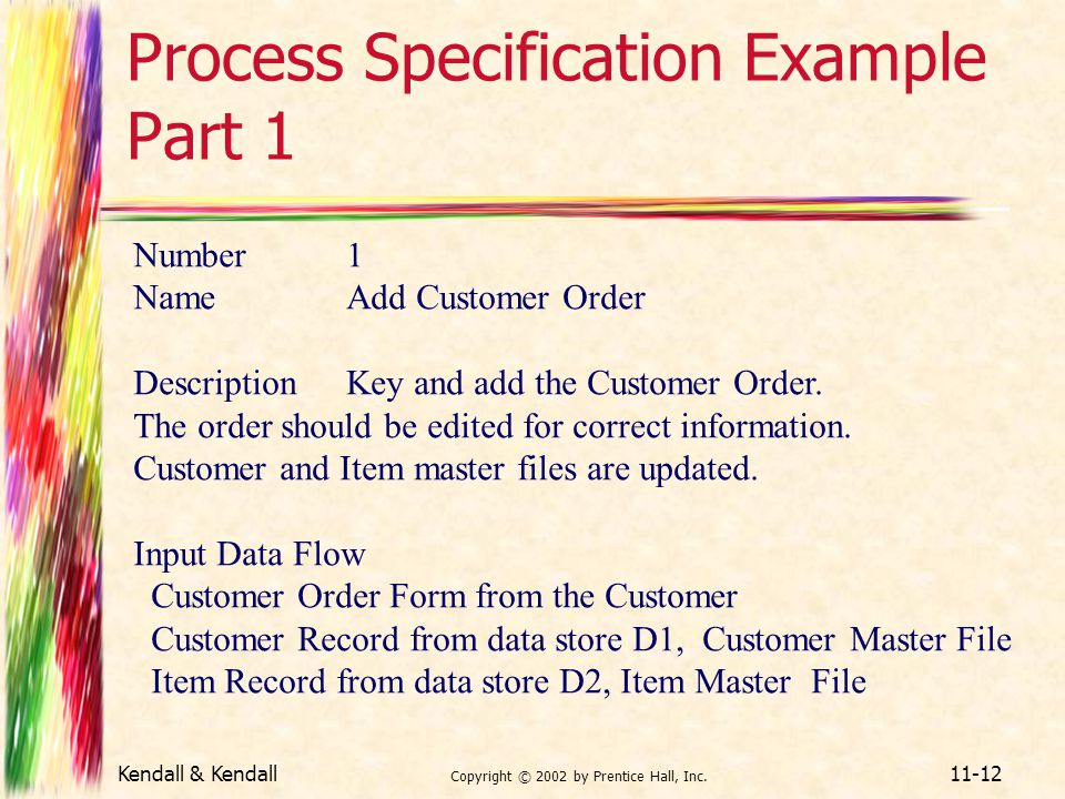 Process Specification Example Part 1